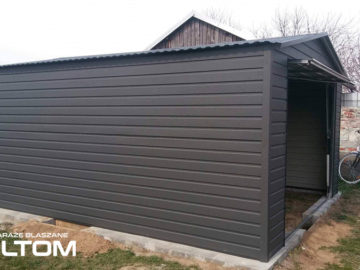Garaż 4x5m | dwuspadowy | kolor RAL matowy