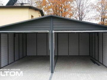 Garaż 6x5m | dwuspadowy | kolor RAL