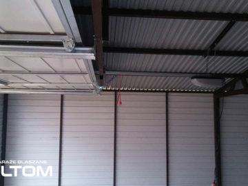 Garaż 5x5m | jednospadowy | kolor RAL