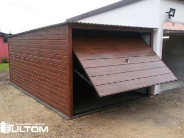 Garaż 3x5m   jednospadowy   drewnopodobny
