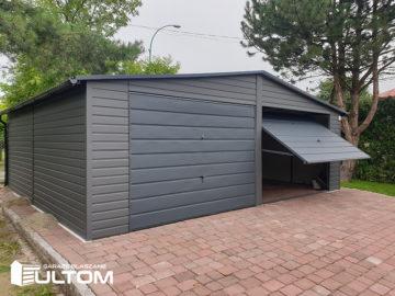 Garaż 7x6m | dwuspadowy | kolor RAL