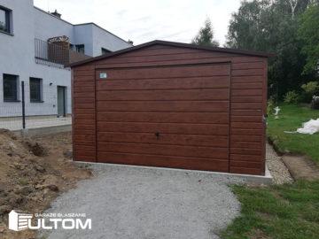 Garaż 4x6m   dwuspadowy   drewnopodobny