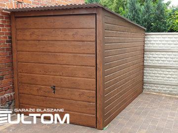 Garaż 2x3m   jednospadowy   drewnopodobny