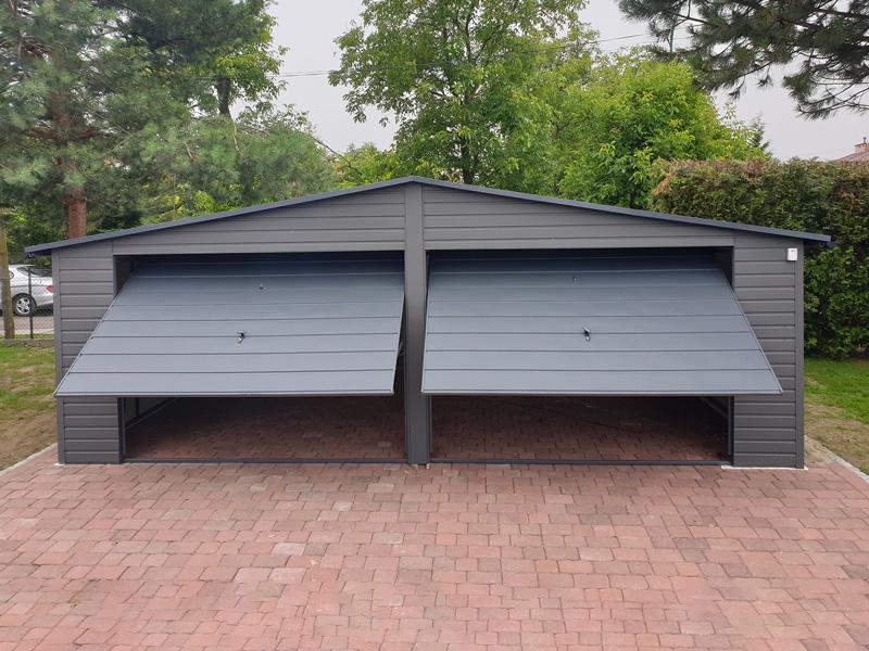 Garaż blaszany akrylowy 7x5 m