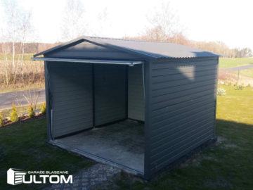 Garaż 3x3m | dwuspadowy | kolor RAL