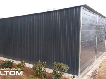 Garaż 5x5m   jednospadowy   kolor RAL