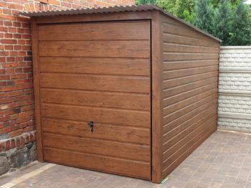 Garaż 2x3m | jednospadowy | drewnopodobny
