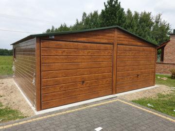 Garaż 6x5m | dwuspadowy | drewnopodobny