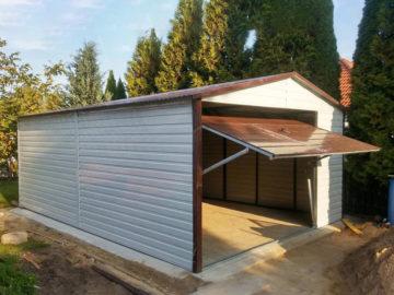 Garaż 4x6m | dwuspadowy | kolor RAL/drewnopodobny