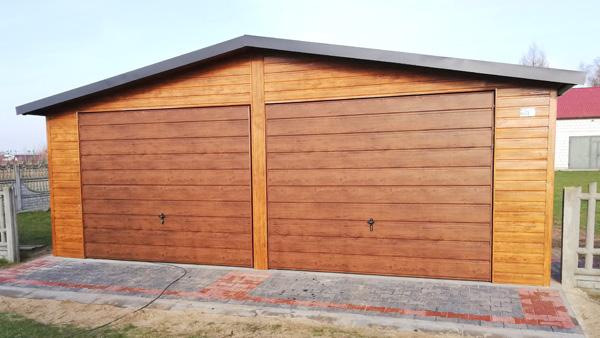 Garaże blaszane drewnopodobne