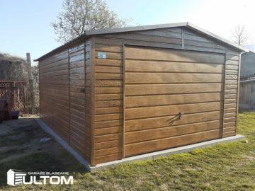 Garaż 4x6m | dwuspadowy | drewnopodobny