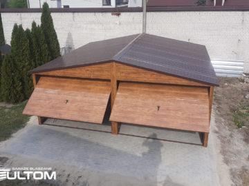 Garaż 6x6m | dwuspadowy | drewnopodobny