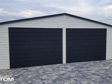 Garaż 7x7m | dwuspadowy | kolor RAL