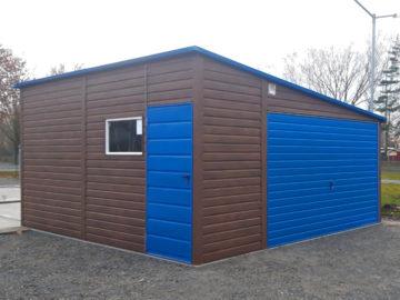 Garaż 5x5m | jednospadowy | drewnopodobny