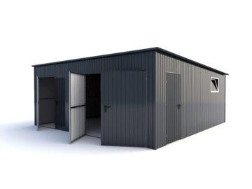 Garaż 6x6m | jednospadowy| kolor RAL 7016