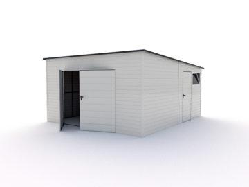 Garaż 4,5x5m | jednospadowy | kolor RAL 9010