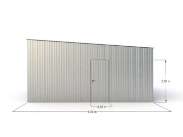 Garaż 6x6m | jednospadowy | ocynkowany