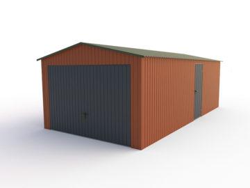 Garaż 3,5x7m | dwuspadowy | kolor RAL