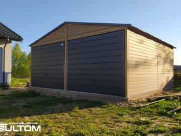 Garaż 6×5,8m   dwuspadowy   drewnopodobny